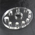 oval de acrílico transparente de tinta de tatuagem copos tampas de suporte de prateleira de tinta titular copos