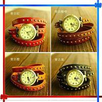 2013 fashion waterproof leather bracelet watches
