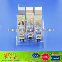 Clear Acrylic Makeup Display Rack