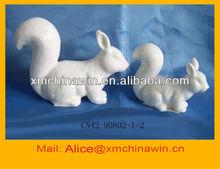 Fashion White Ceramic Squirrel Home Decoration