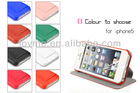 hot selling wallet leather case stand cover for iphone 5 5G apple