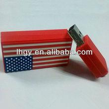 2013 original design America Flag pendrive flash high speed (LH-1059)