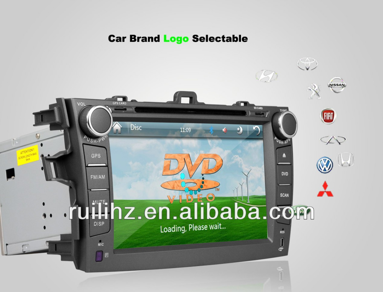 Toyota Collora 8 inchCar DVD Touch Screen GPS/3G/Wifi