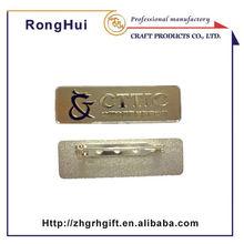 Brilhante banhado a ouro pino de segurança / areado emblema do pin / preço de fábrica emblema do pin