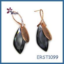 Direct factory price glitter women's fashion blingbling acrylic dangle drop earrings
