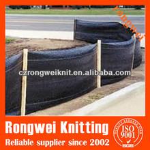 black woven silt fence