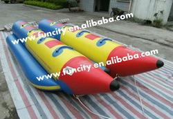 2013 most durable doube tube water banana boat