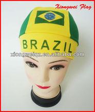 2014 Brasil World Cup Brazil printed pirate design fans cap