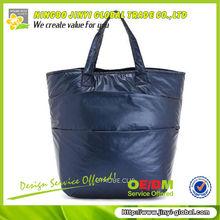 2013 customized logo plain blue handbag/mini tote bags wholesale