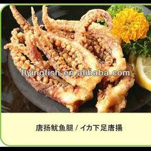 Breaded squid tentacles