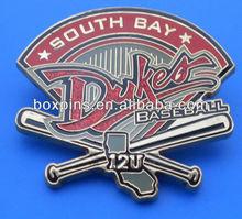 dome epoxy coating photo etched baseball trading badge(BOX-Joe-lapel pin-13061802)