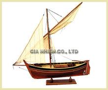 Pointu Model Fishing Boat - Wooden Craft Boat