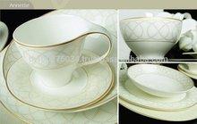 Gold Decoration Royal Bone China Dinnerware by Royal Porcelain