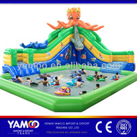Hot sale! cool octopus inflatable pool/inflatable slide for children
