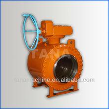 API 6D 2way Trunnion mounted ball valve
