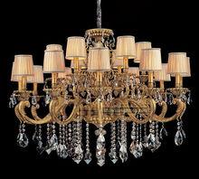 18 lights gold bronze chandelier