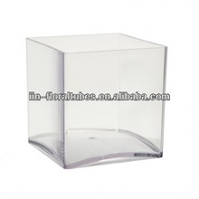 clear acrylic cube vase for flowers home deco florist container