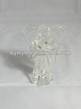 glass angel figurine,glass angel,wholesale glass christmas angel ornaments