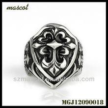 2013 Vintage Ring 316L Skull Stainless Steel Biker ring