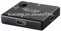 Support 3D Hdmi Swicher 3 in 1 out Switcher