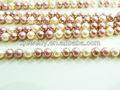 Venta al por mayor 8 mm concha de perla color mezclado o cristal granos redondos de la perla de los granos flojos