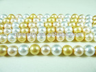 Wholesale 9mm mixed colour shell pearl or glass pearl round beads loose beads