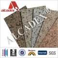 Panneaux en aluminium composite pvdf 4mm, une utilisation en extérieur revêtement de mur, finition de marbre