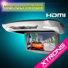 "CR103HD Grey: Xtrons 10.1"" Flip Down Car DVD with HDMI Port"