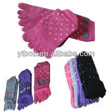Factory delivery Jacquard Multicolor cotton middle cuff fashion toe socks Yi Bo Li brand M hot sell socks