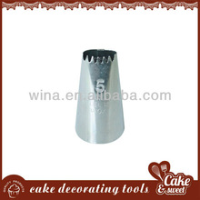 stainless steel ice cream tip/nozzle for cake decoration