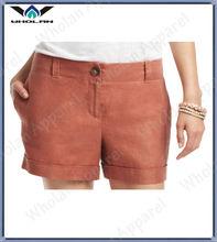 ladies fancy cotton twill sexy short pants suit
