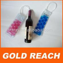 Foldable, reusable eco-friendly PVC wine bottle cooler bag