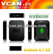 Android4.0 with TF card slot dual core remote control tablet mini digital car TV set up tuner box VCAN0577-11