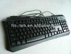 Green LED light up computer multimedia gaming keyboard for ipad game keyboard