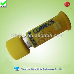 cute shape silicone usb flash drive case
