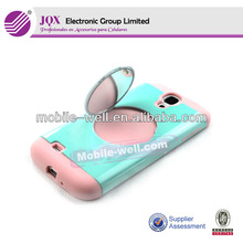 Holder stand cover case with mirror for Samsung galaxy S3 i9300