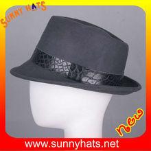 Stylish grey-wool-felt hat