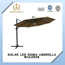 WUL002B Alum Roma Solar LED light Waterproof Patio Umbrella