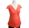 orange love Maternity top