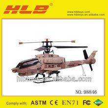 2.4 G 4CH Apache RC helicóptero