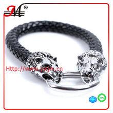 BR352314 Double leopard snake leather bracelet