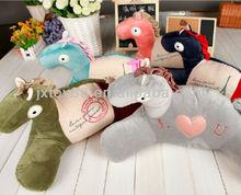cartoon plush stuffed animal shape waist cushion