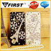 Luxury Bling Shiny Diamond SILVER snowflake Case for Apple Phone case,For iPhone 4 4s,
