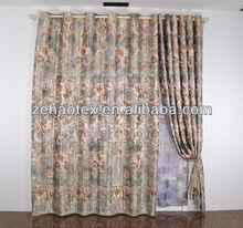 Elegant rose floral blind modern gray living room jacquard polyester curtain.
