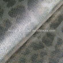 Newest metallic leopard PU leather