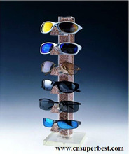 latest acrylic sunglasses display with square base