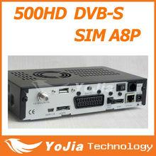 FTA set top box DM500 HD sim a8p card digital satellite receiver DVB-S2 with CCCAM Card sharing