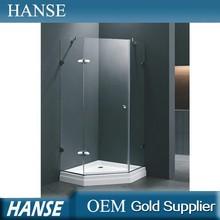 HS-SR837 wholesale diamond one pulling door 1 piece shower enclosures