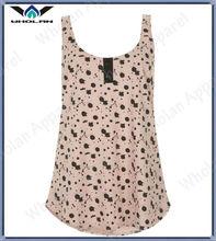 young girl fashion tank tops cotton full printed sleeveless tshirt