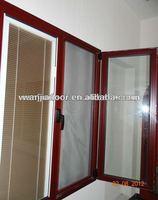 top casement windows/window blinds parts/foshan